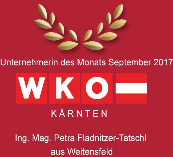 Unternehmerin des Monats September 2017 - Ing. Mag. Petra Fladnitzer-Tatschl aus Weitensfeld